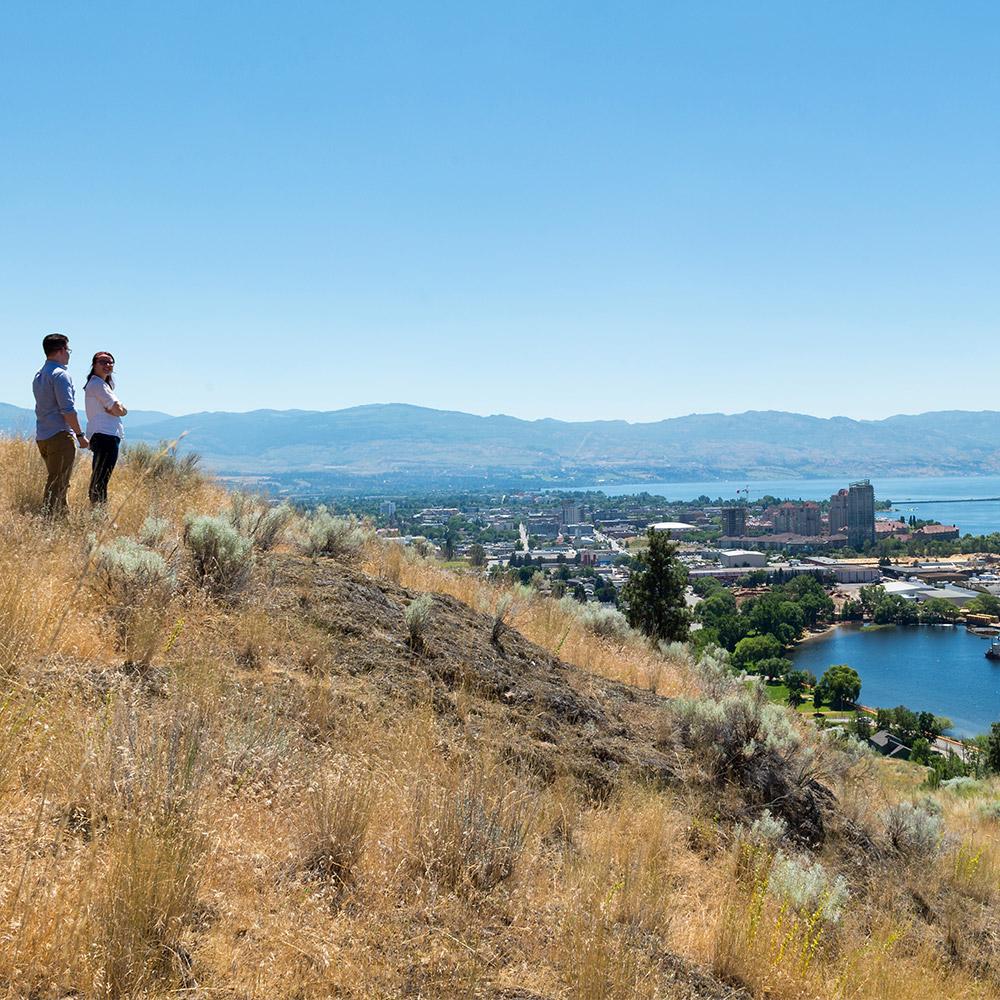 UBC Okanagan Students looking over Kelowna