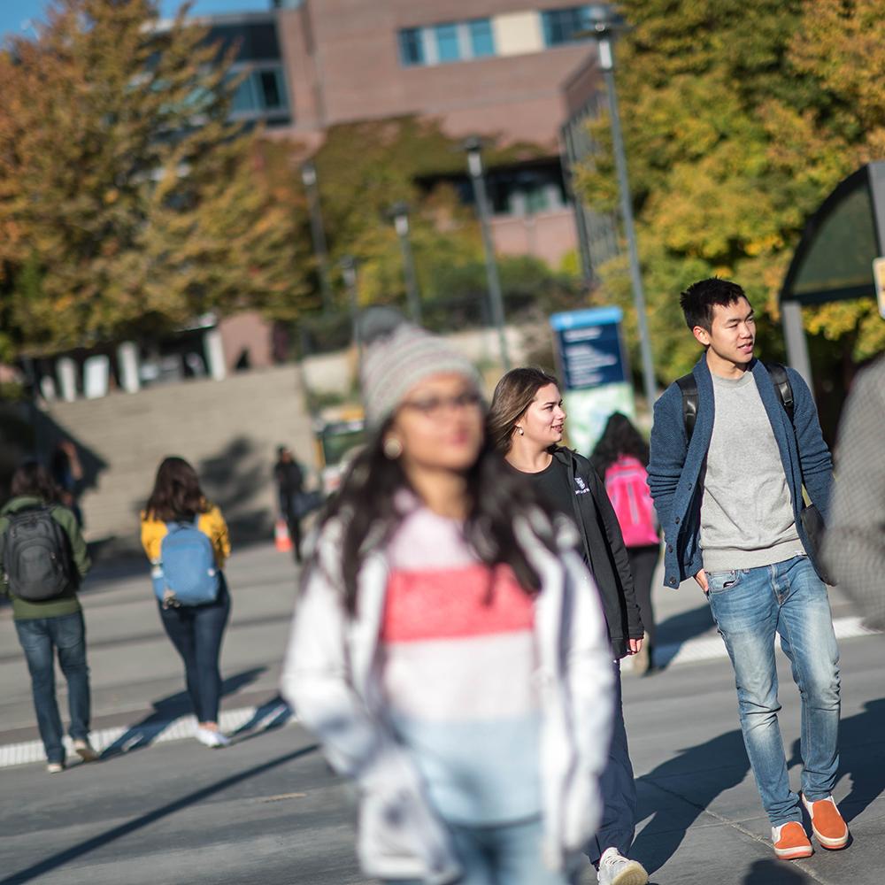 Outdoor walkway on the UBCO campus