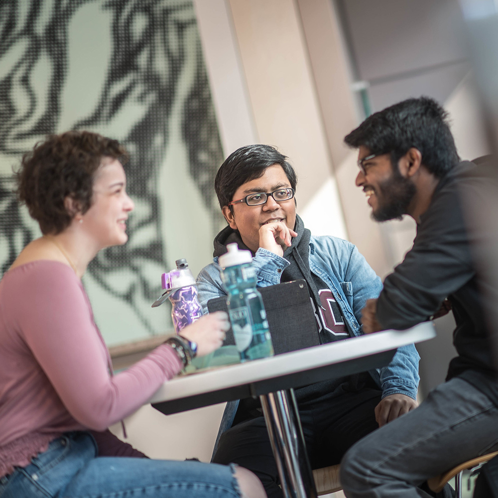 Students in discussion at UBCO